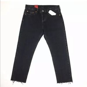 (NWT) LEVI'S 501 Tapered Cropped Button-Fly Jeans